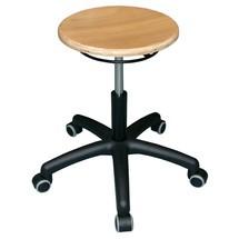 Arbeitshocker mit Sitzfläche aus Buche
