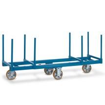 Blauer Langmaterialwagen mit geschweißter Stahlkonstruktion